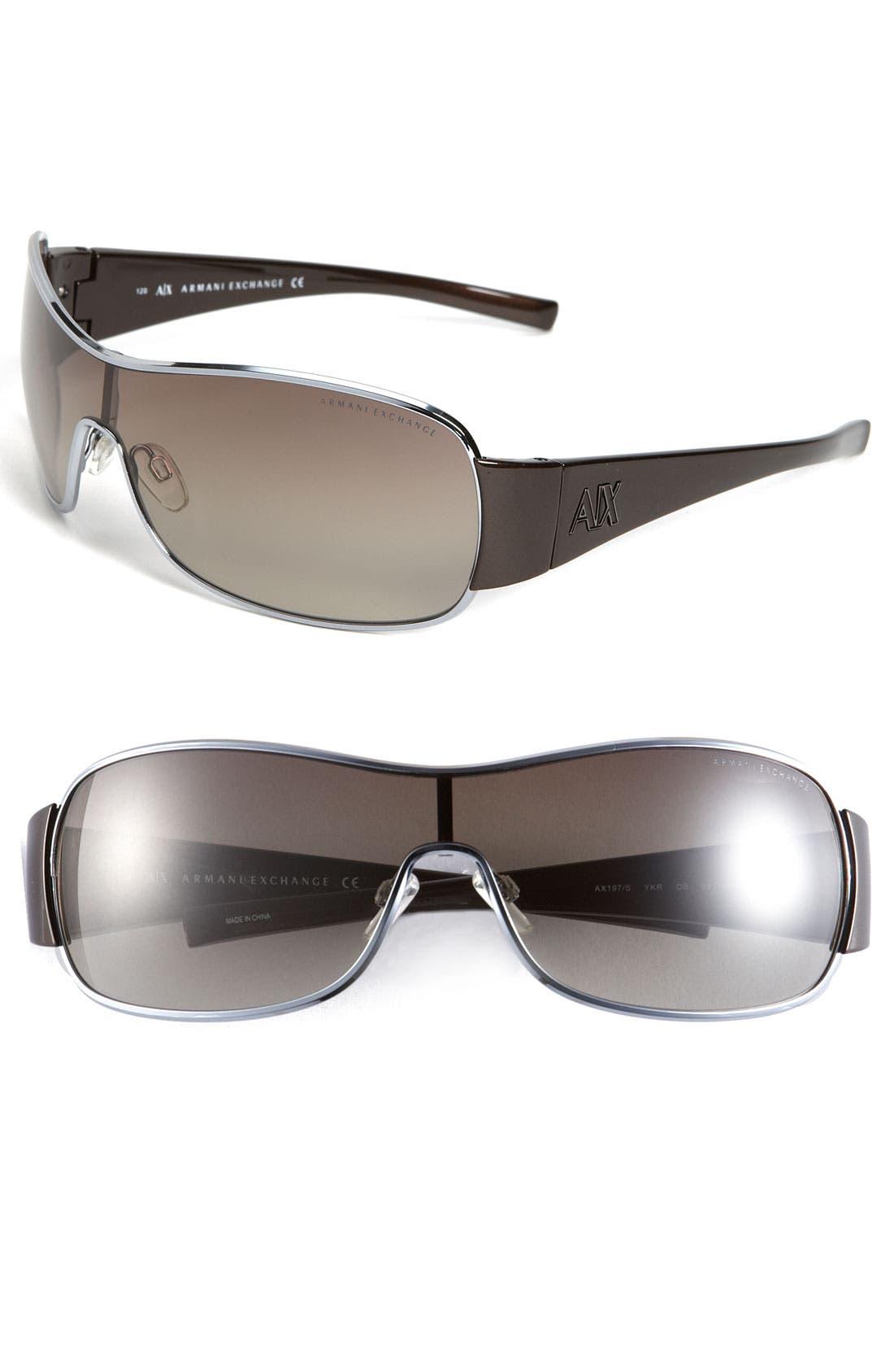 Alternate Image 1 Selected - AX Armani Exchange Shield Sunglasses