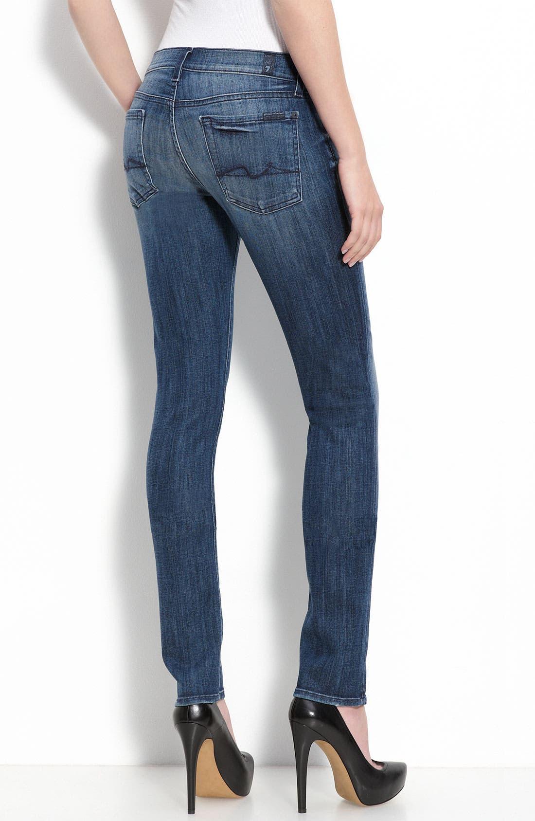 Alternate Image 2  - 7 For All Mankind® 'Roxanne' Skinny Stretch Jeans (Adara Night Wash)