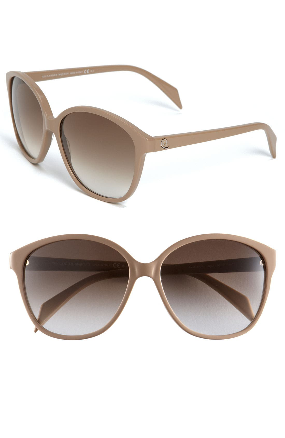 Alternate Image 1 Selected - Alexander McQueen Retro Inspired Sunglasses