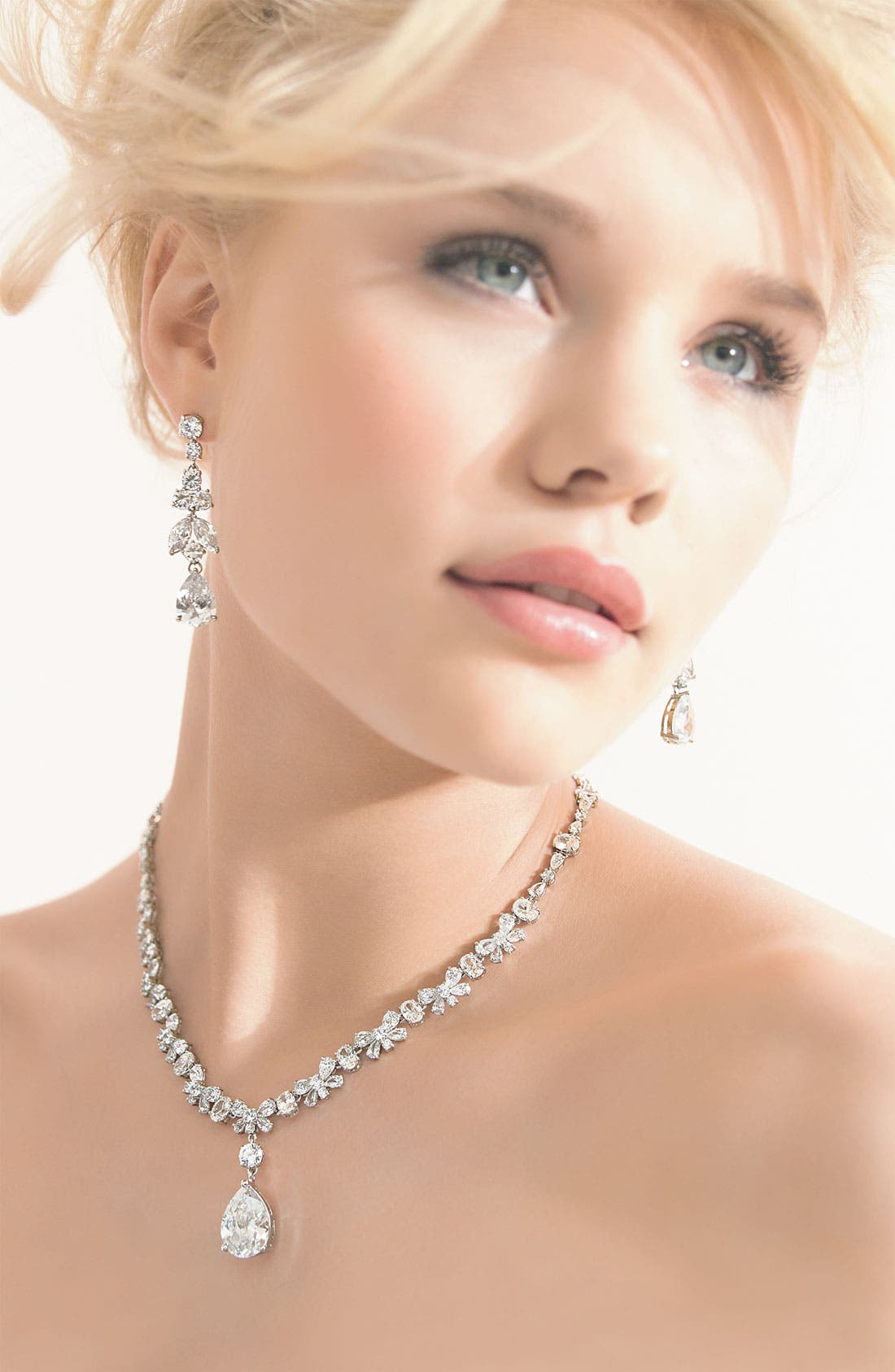 Alternate Image 3  - Tasha Cubic Zirconia Pear Drop Necklace