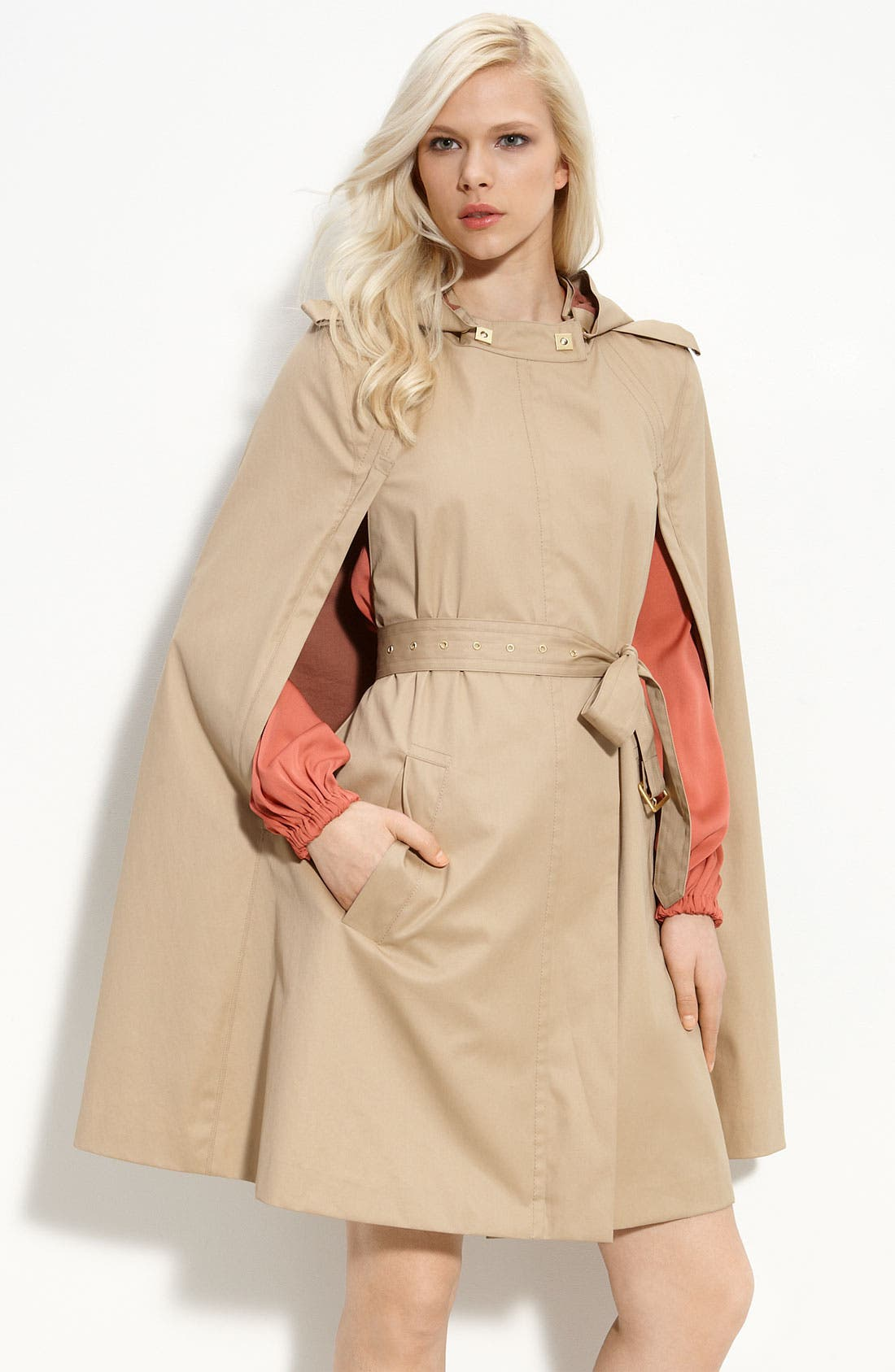 Alternate Image 1 Selected - Diane von Furstenberg Hooded Cotton Cape