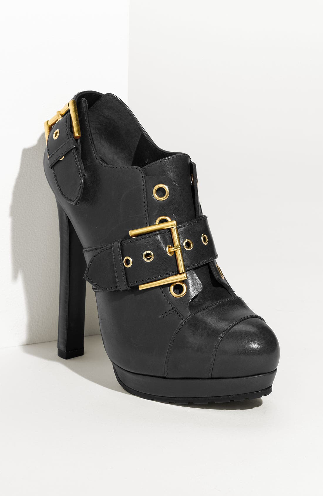 Alternate Image 1 Selected - Alexander McQueen Buckled Leather Bootie