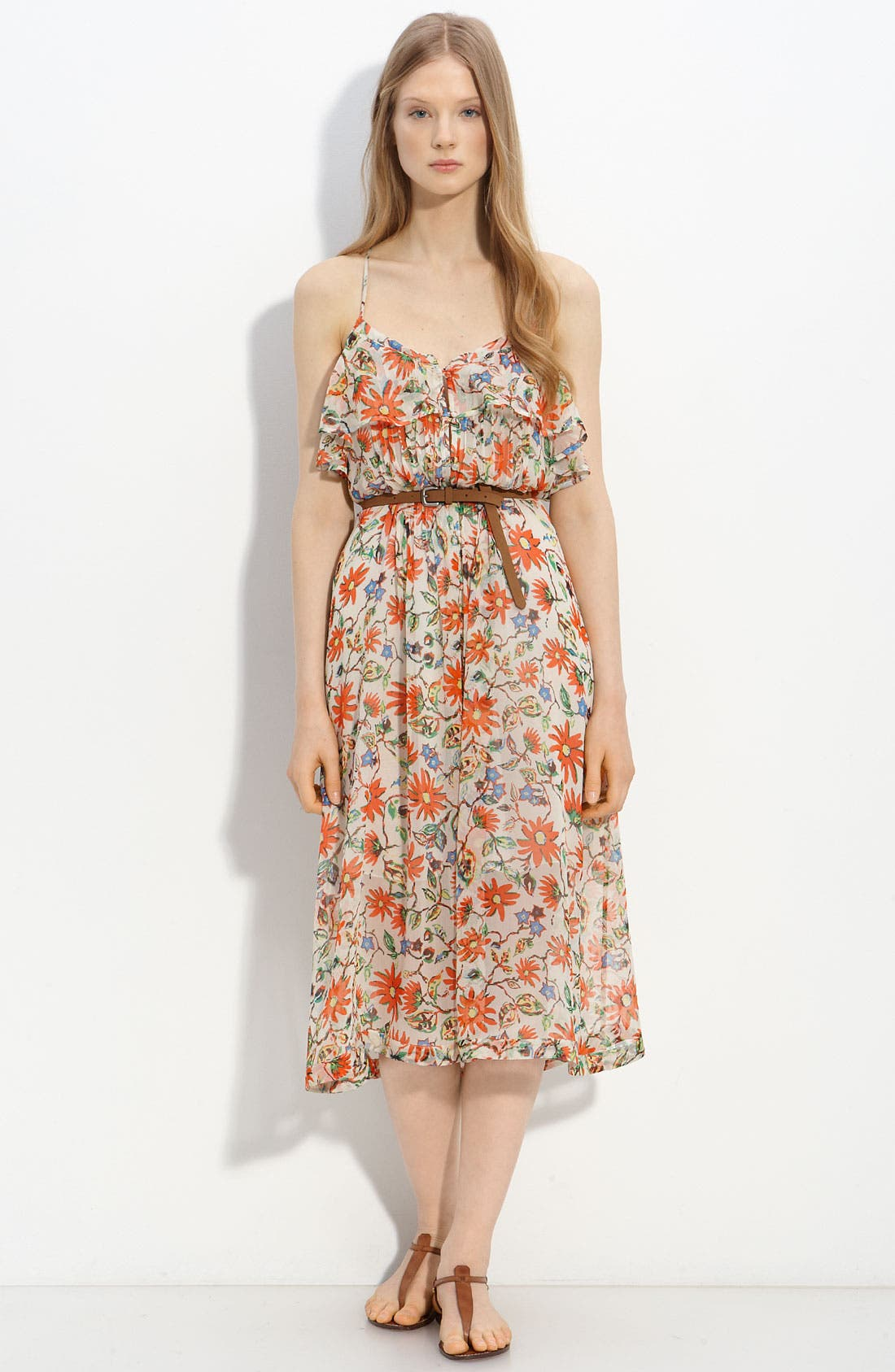 Main Image - Joie 'Camay' Belted Silk Dress
