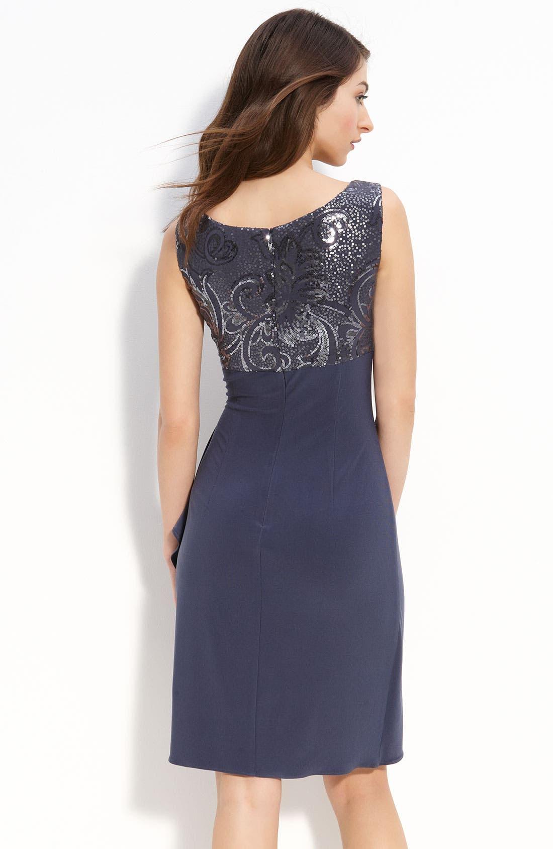 Alternate Image 3  - Alex Evenings Sequin Jersey Sheath Dress & Bolero