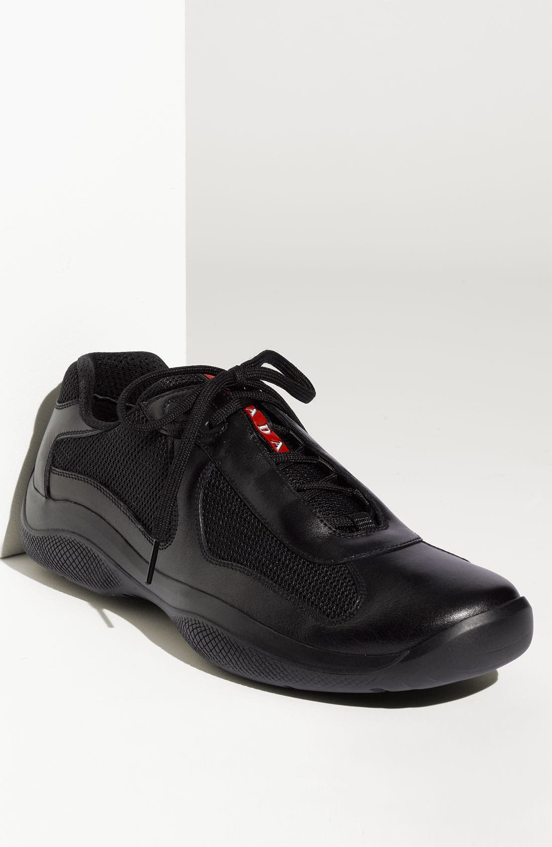 Main Image - Prada 'America's Cup' Mesh & Leather Sneaker (Men)