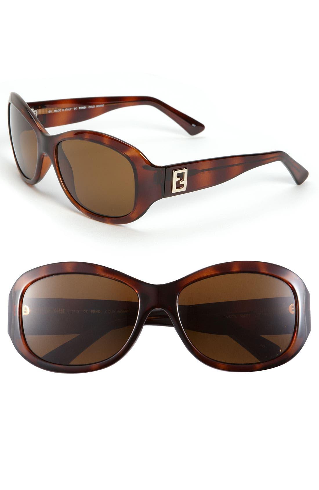Main Image - Fendi Polarized Sunglasses