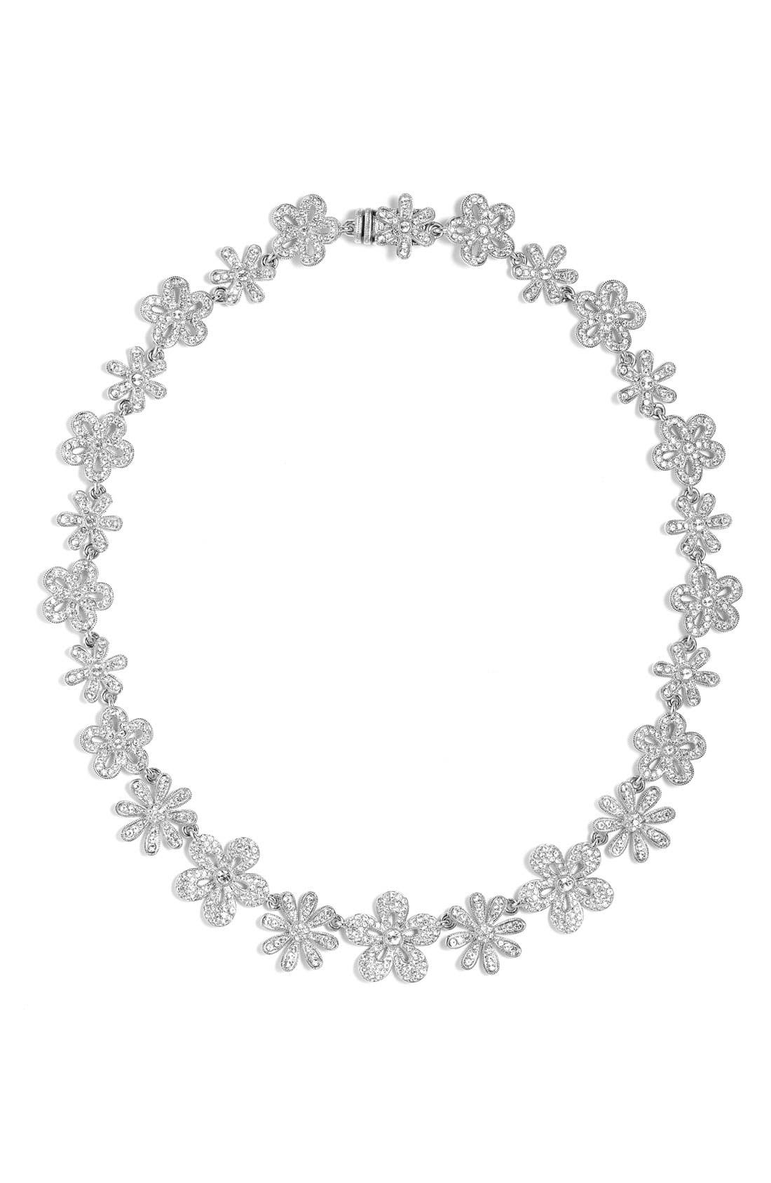 Alternate Image 1 Selected - Nadri All Around Flower Necklace
