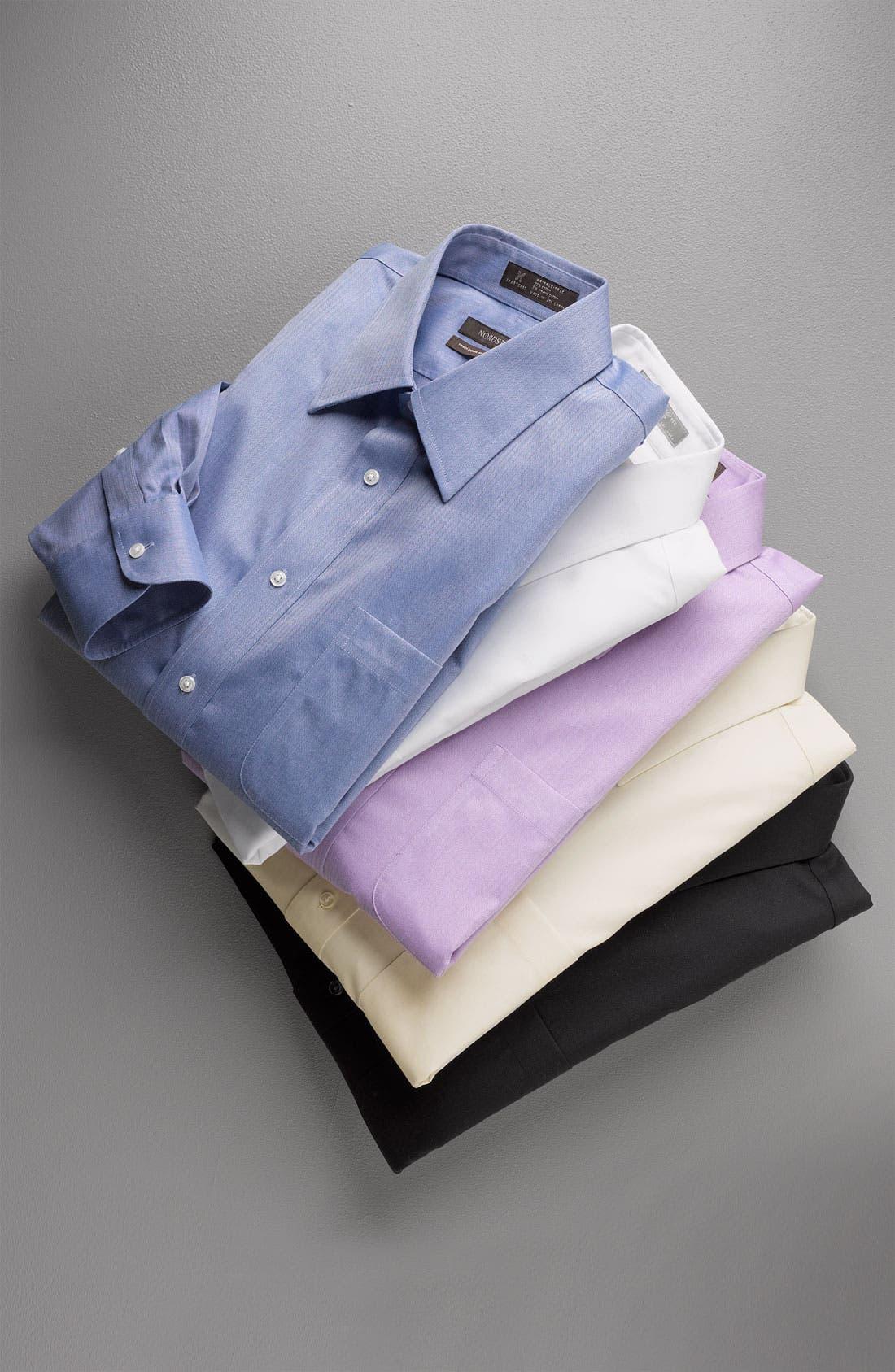 Alternate Image 15  - Nordstrom Men's Shop Smartcare™ Wrinkle Free Traditional Fit Herringbone Dress Shirt