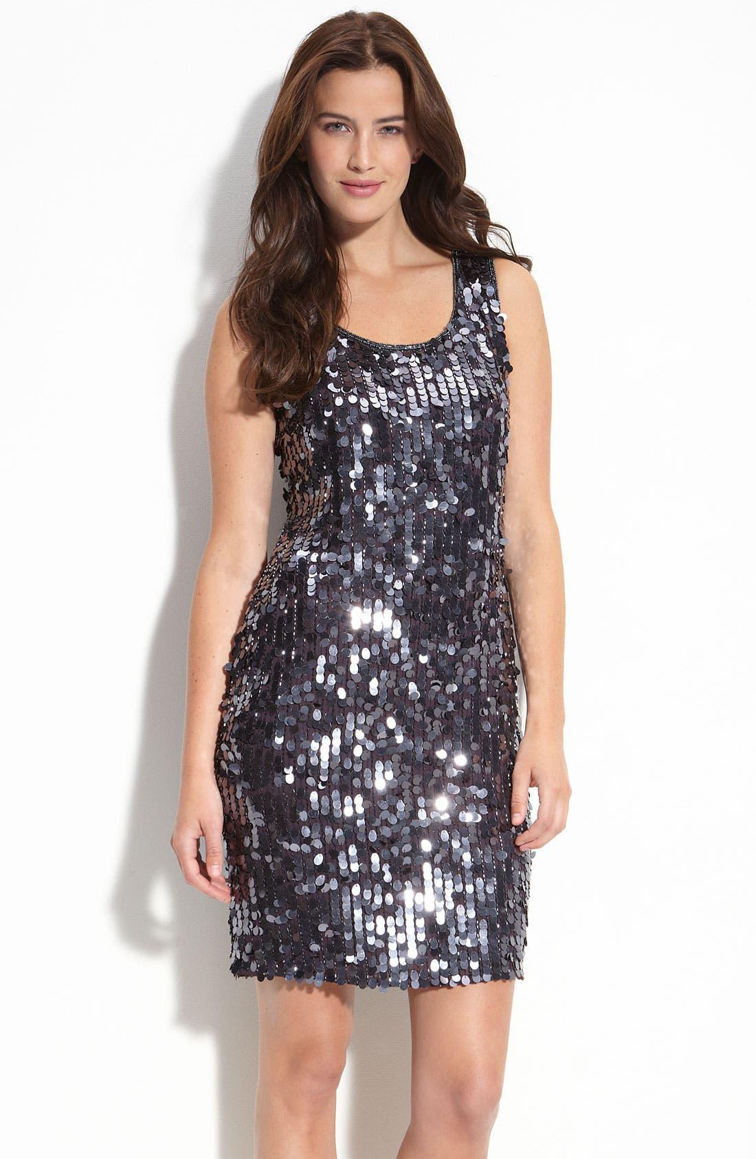 Main Image - Pisarro Nights Sequin Tank Dress