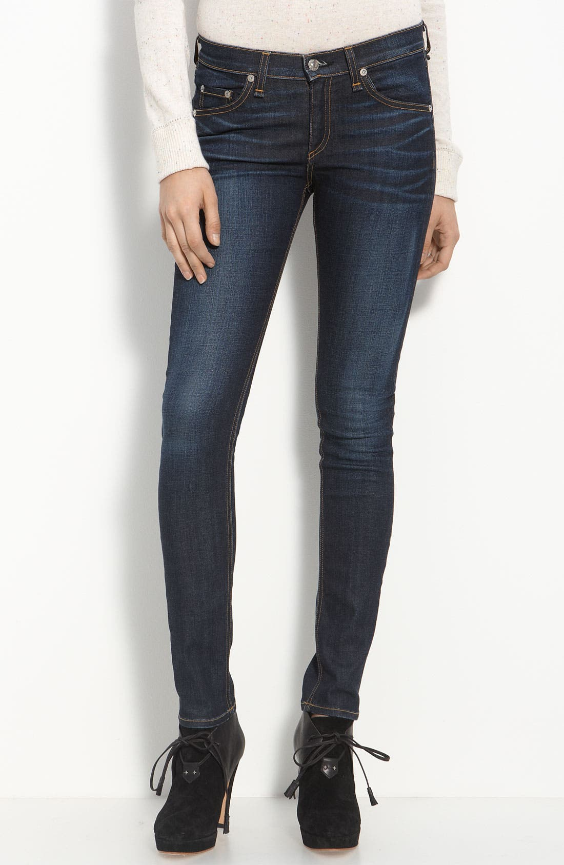 Alternate Image 1  - rag & bone/JEAN Skinny Stretch Jeans (Kensington)