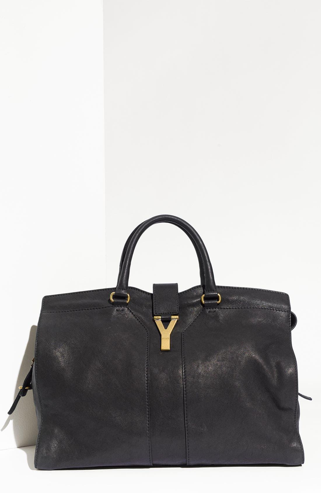 Alternate Image 1 Selected - Yves Saint Laurent Paris 'Cabas Chyc - Large' Leather Satchel