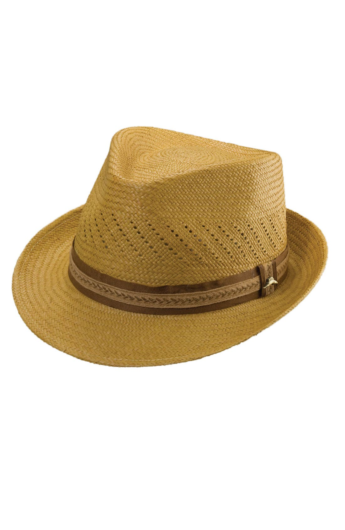 Main Image - Tommy Bahama Perforated Panama Straw Fedora