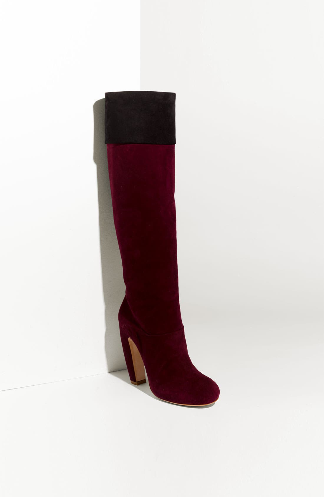 Alternate Image 1 Selected - Miu Miu 2-Tone Suede Boot