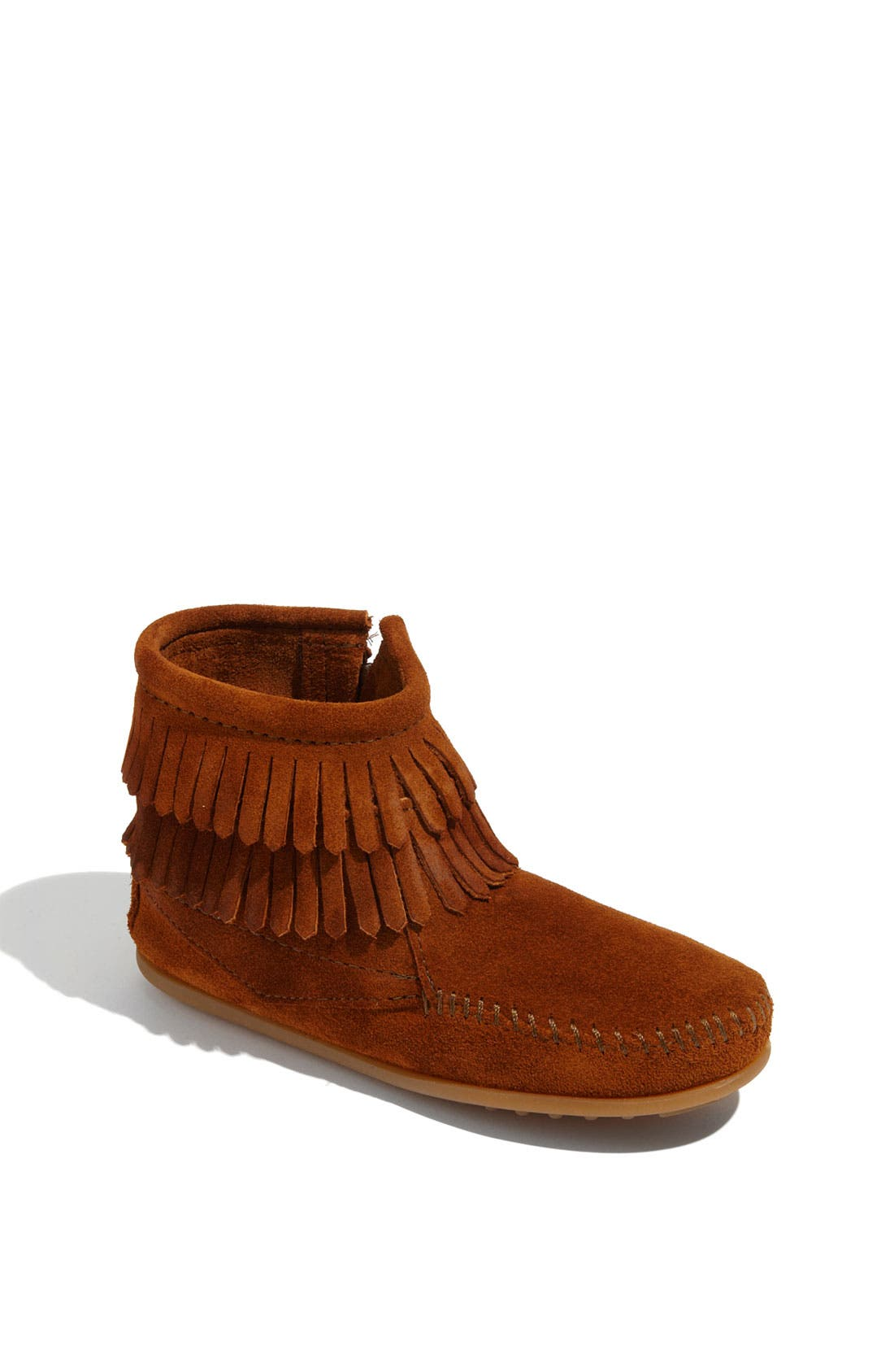 Main Image - Minnetonka 'Double Fringe' Boot (Walker, Toddler, Little Kid & Big Kid)