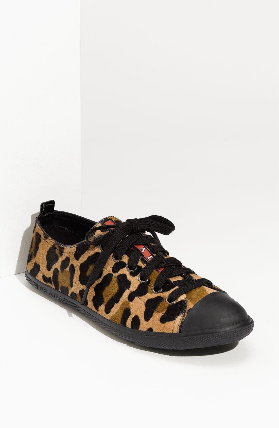 Main Image - Prada Leopard Print Sneaker
