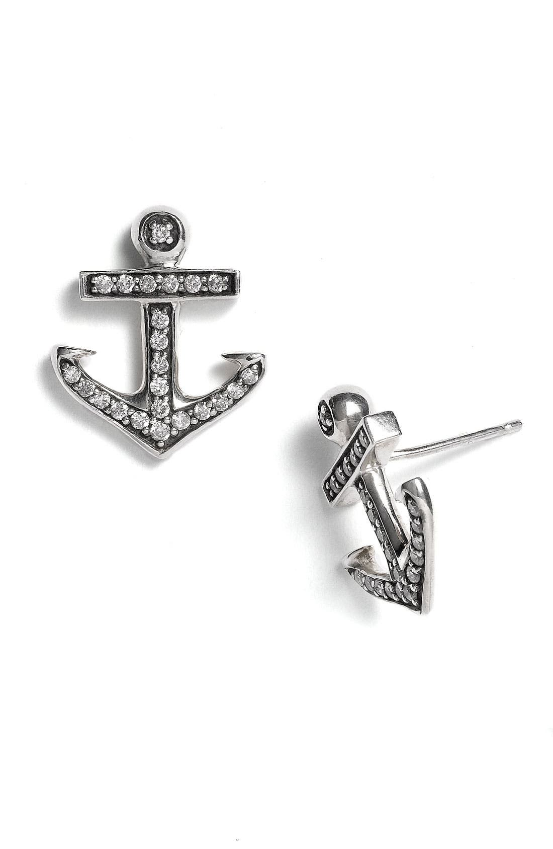 Main Image - Elizabeth and James 'Sea Creatures' Anchor & Sapphire Earrings