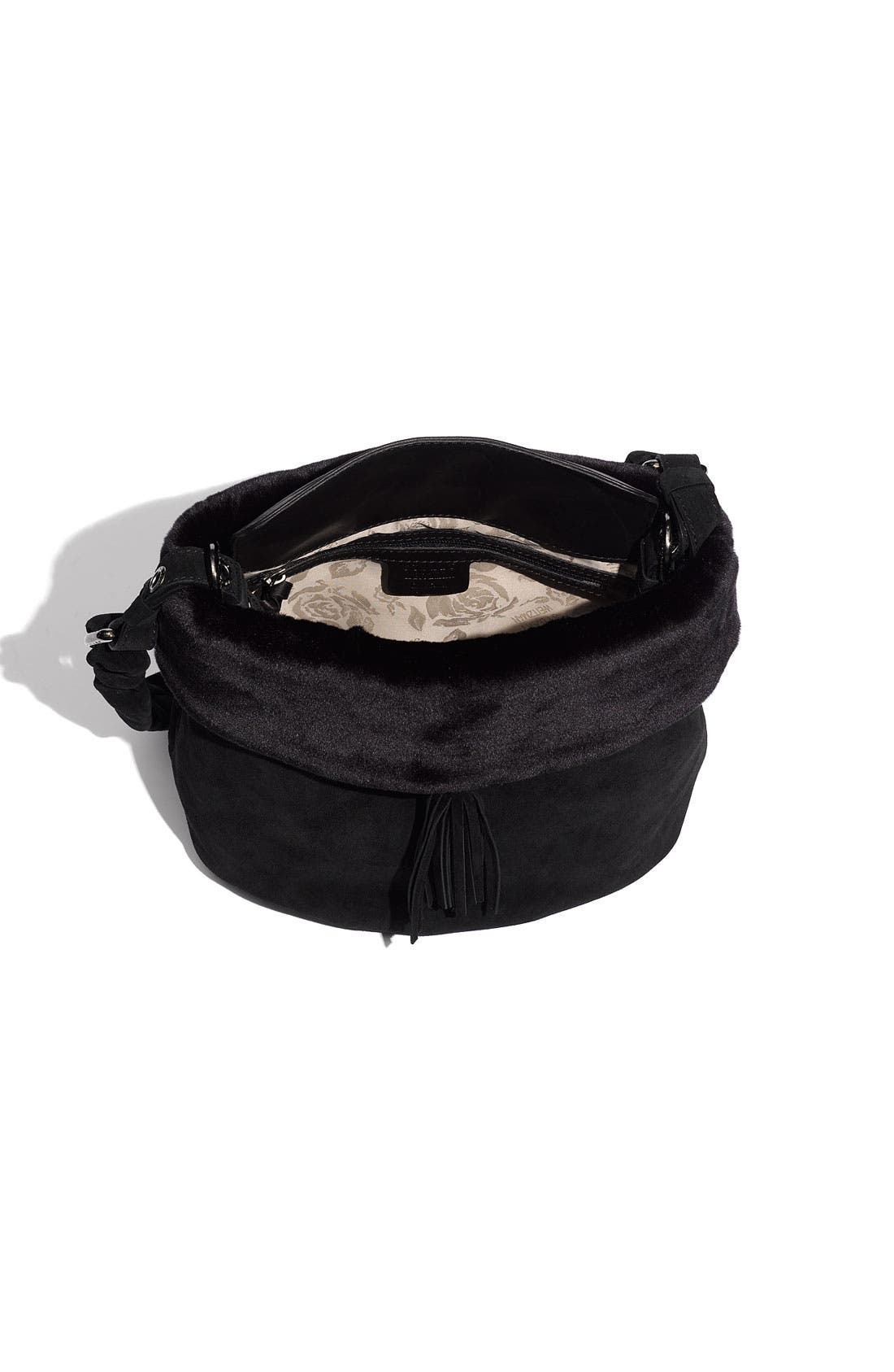 Alternate Image 3  - Stuart Weitzman Faux Fur Trim Shoulder Bag