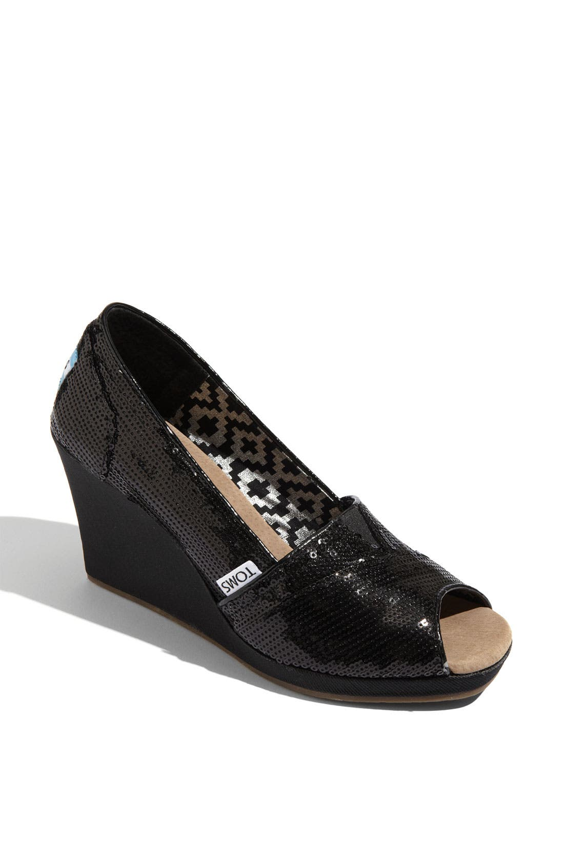 Alternate Image 1 Selected - TOMS Sequin Wedge (Women)