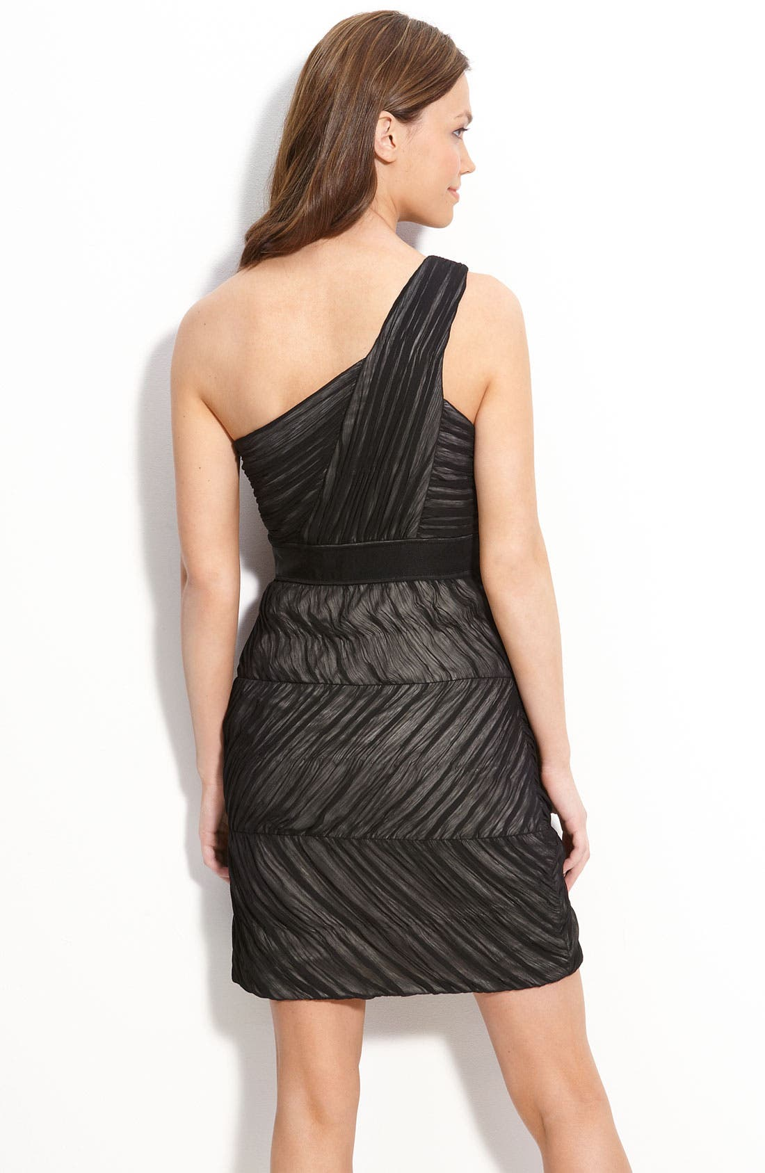 Alternate Image 2  - Max & Cleo One Shoulder Ruched Chiffon Dress