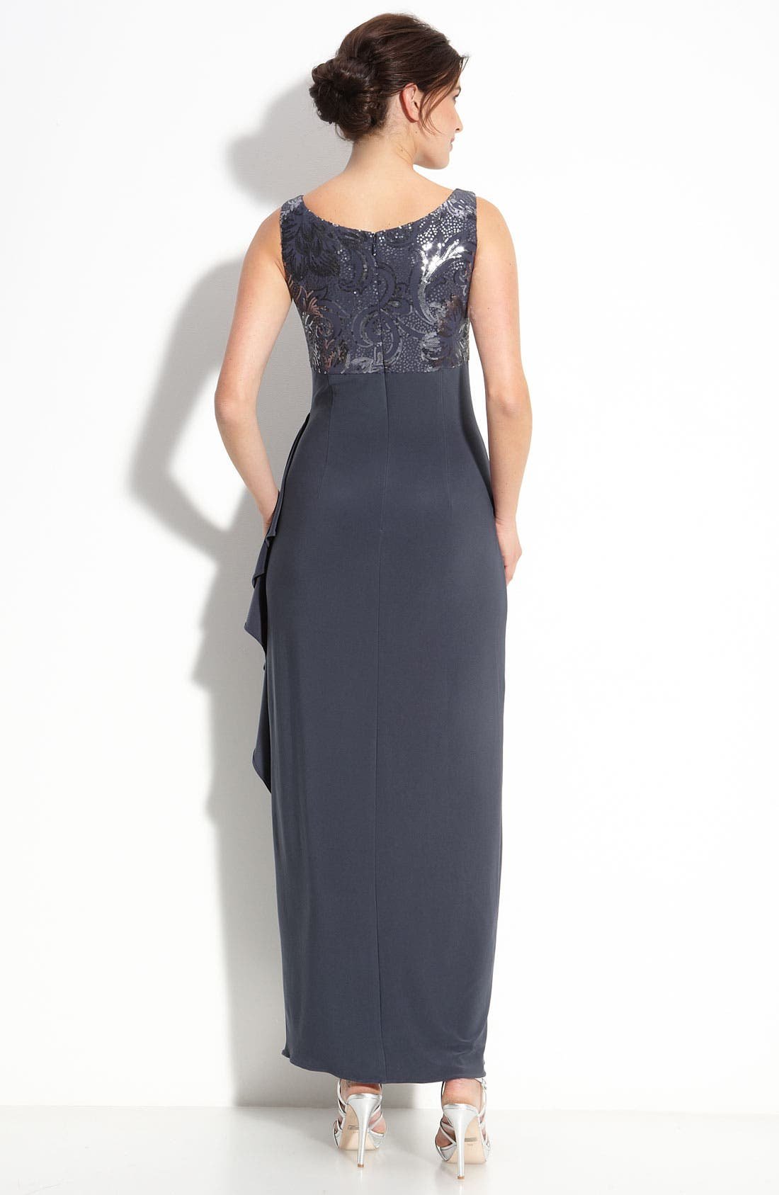 Alternate Image 3  - Alex Evenings Sequin Jersey Gown & Bolero