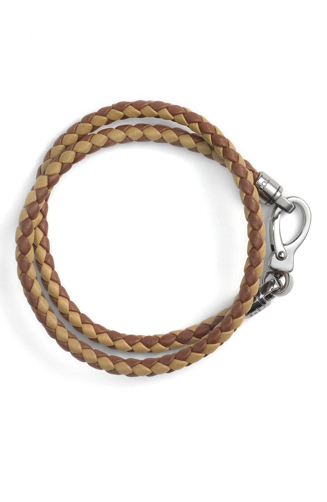 Alternate Image 1 Selected - Tod's 2-Tone Braided Leather Bracelet