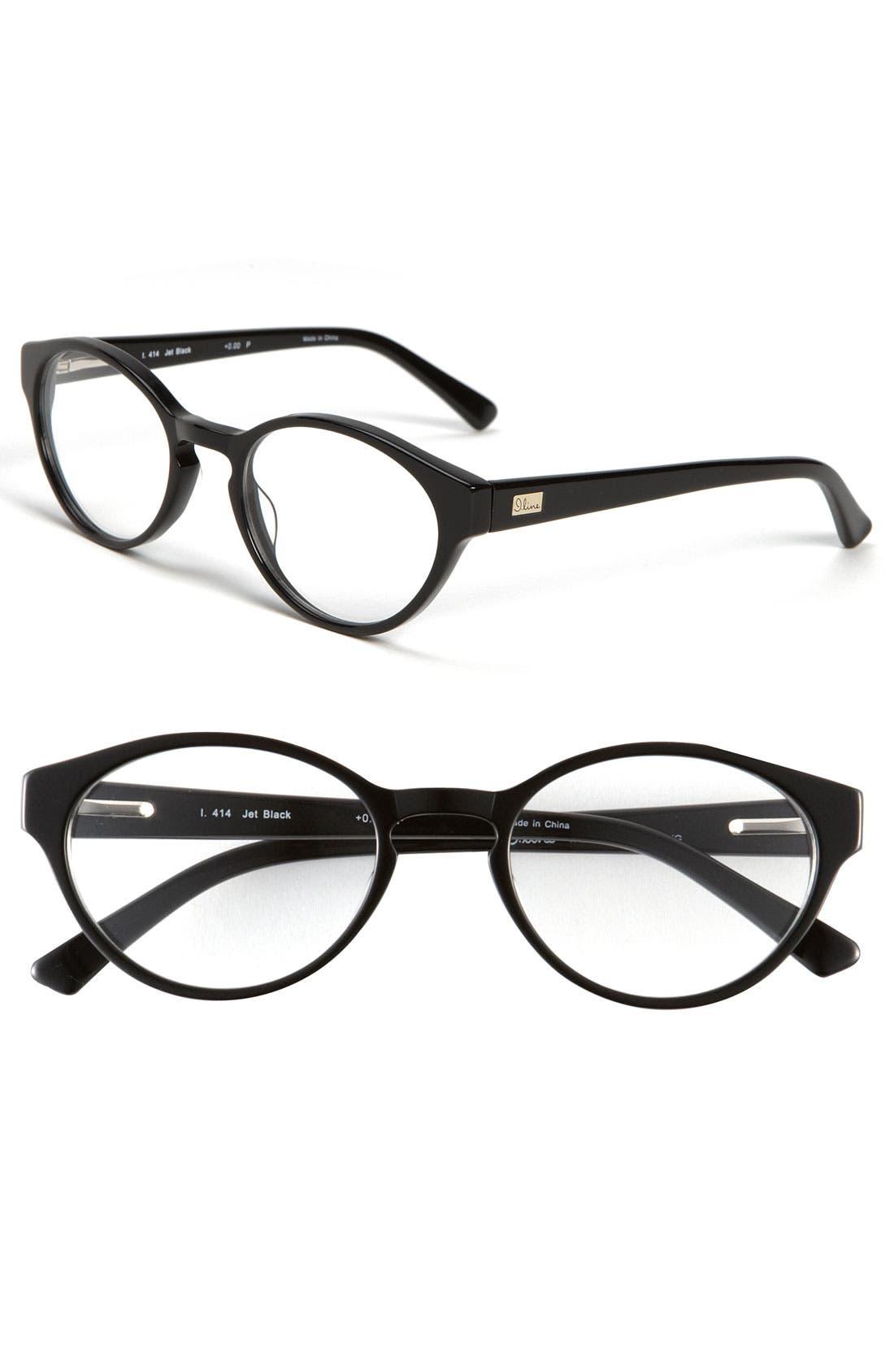 Main Image - I Line Eyewear 'Jet Black' Reading Glasses (2 for $88)