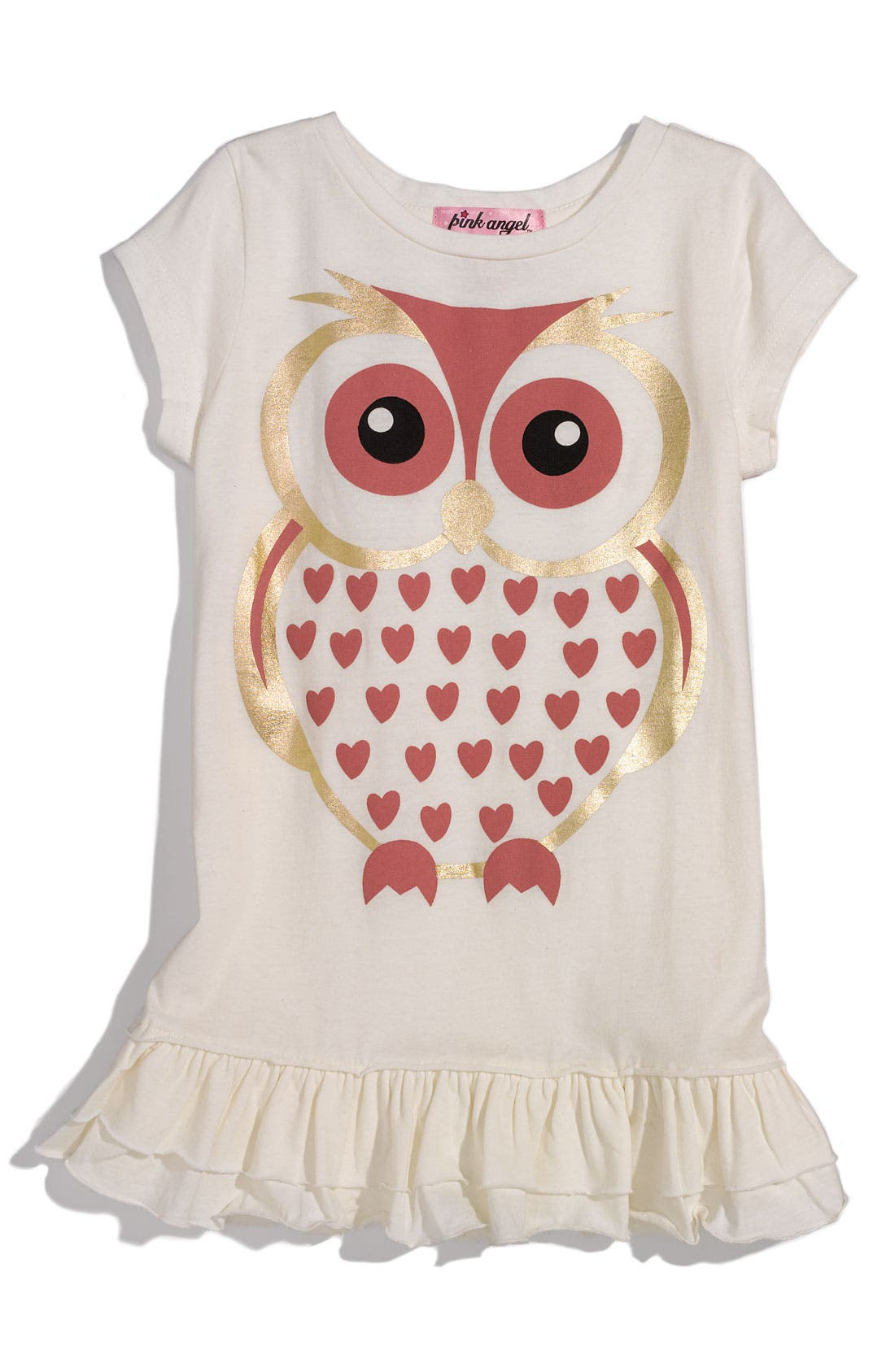 Alternate Image 1 Selected - Pink Angel Jeweled Tunic (Toddler)
