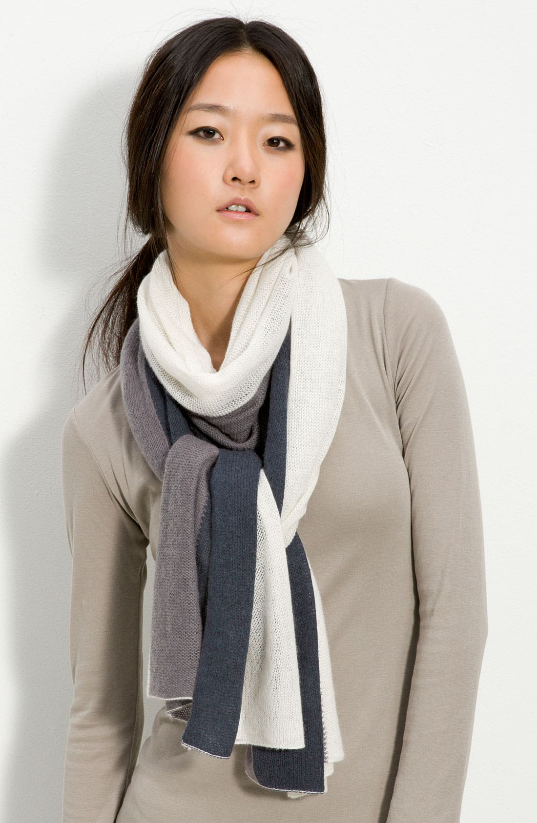 Alternate Image 1 Selected - Halogen® Stripe Airy Scarf