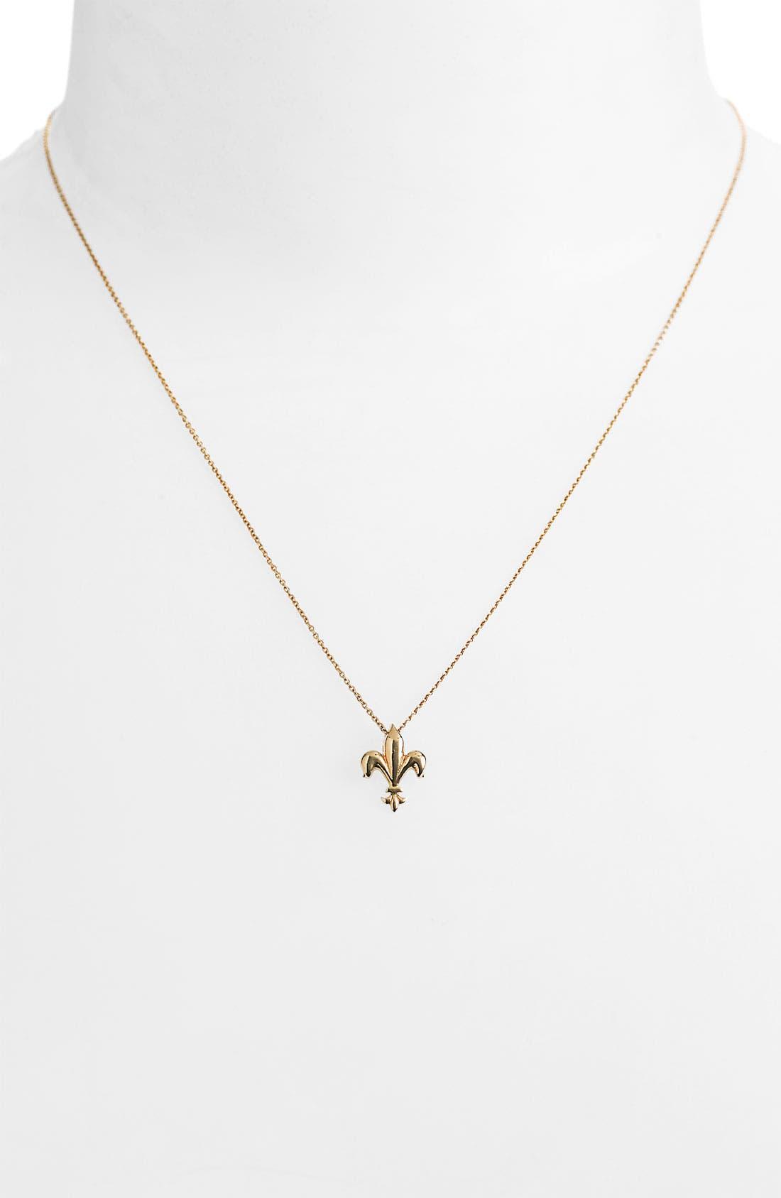 Alternate Image 1 Selected - Roberto Coin 'Tiny Treasures' Fleur de Lis Necklace