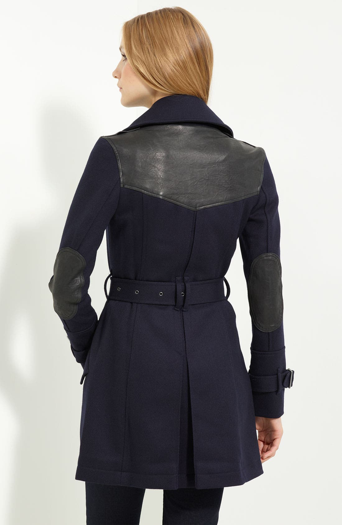 Alternate Image 2  - Burberry Brit Leather Trim Trench