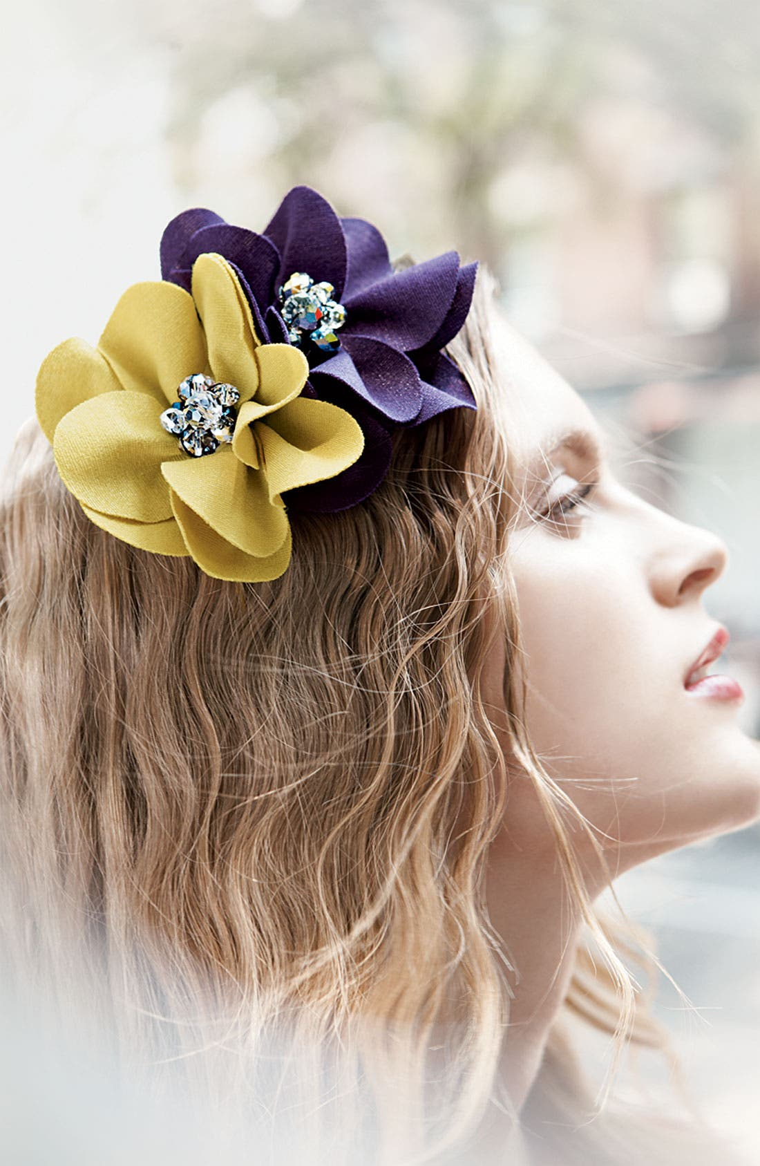 Alternate Image 2  - Cara Accessories 'Lovely Lady' Flower Headband