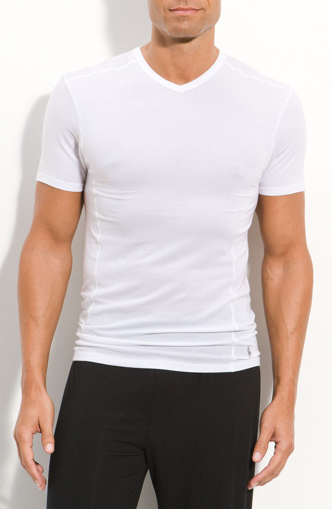 Alternate Image 1 Selected - Polo Ralph Lauren Modal V-Neck T-Shirt