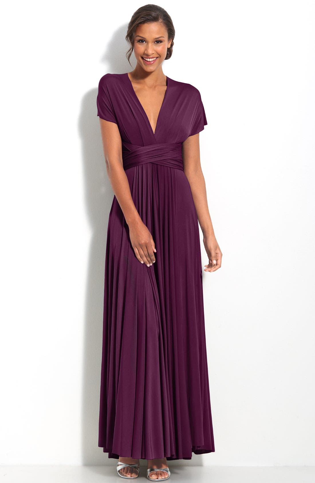 Alternate Image 3  - twobirds Convertible Jersey Gown (Regular & Plus)
