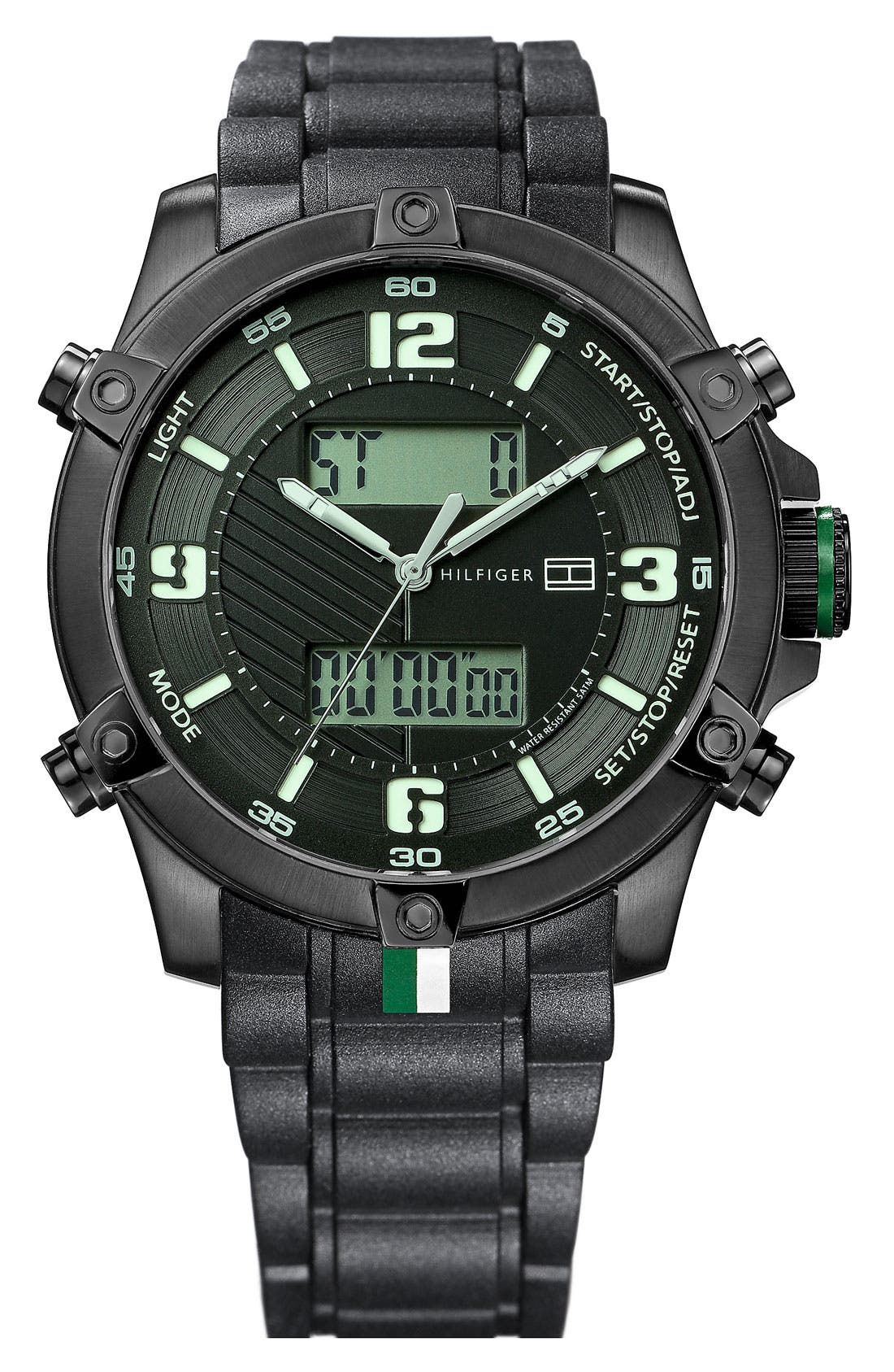 Alternate Image 1 Selected - Tommy Hilfiger Dual Display Watch