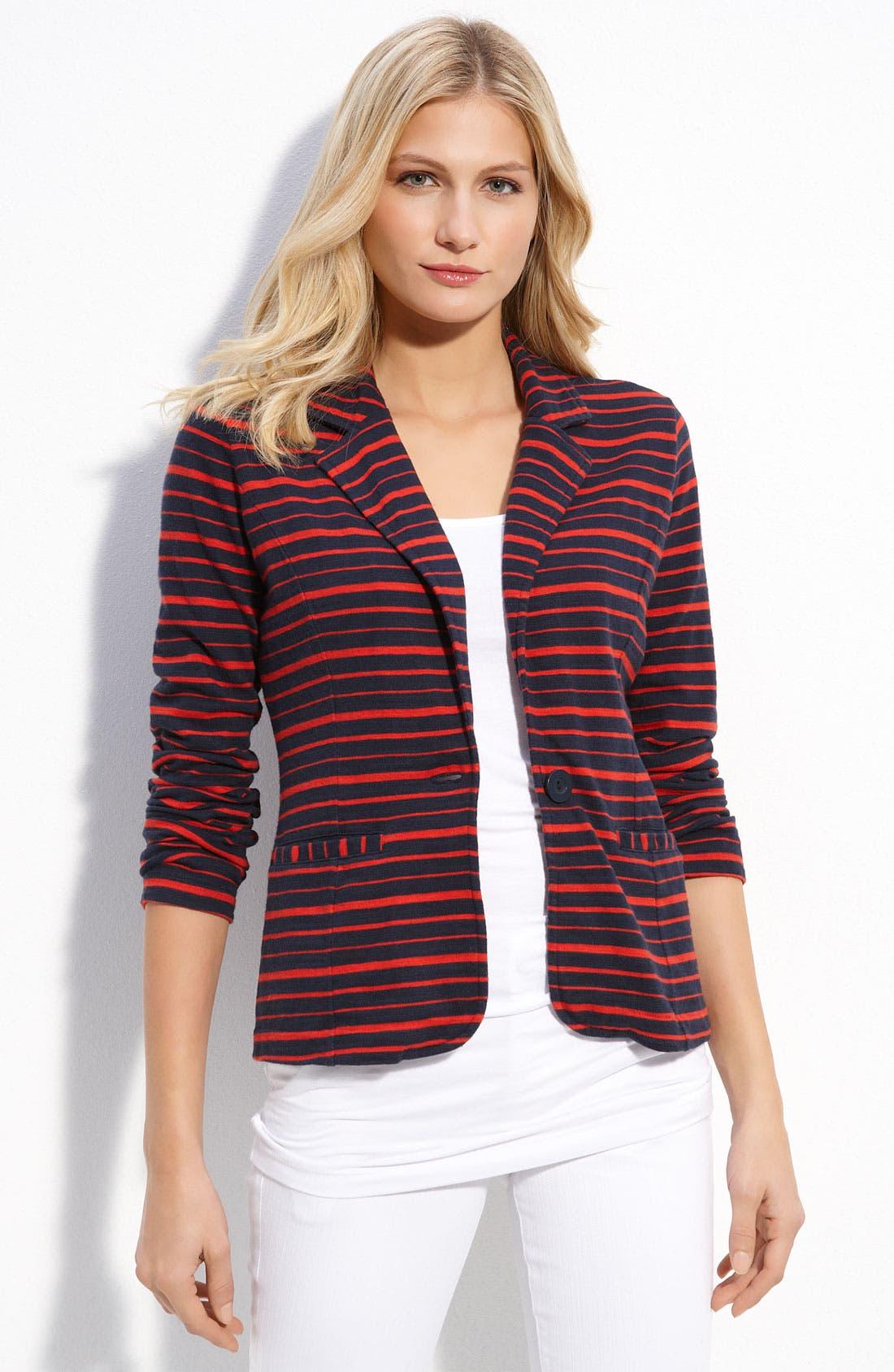 Main Image - Caslon® One-Button Knit Blazer