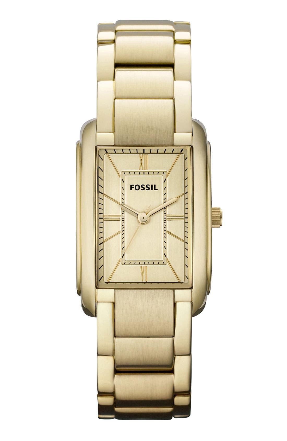 Alternate Image 1 Selected - Fossil Ladies' Rectangular Bracelet Watch