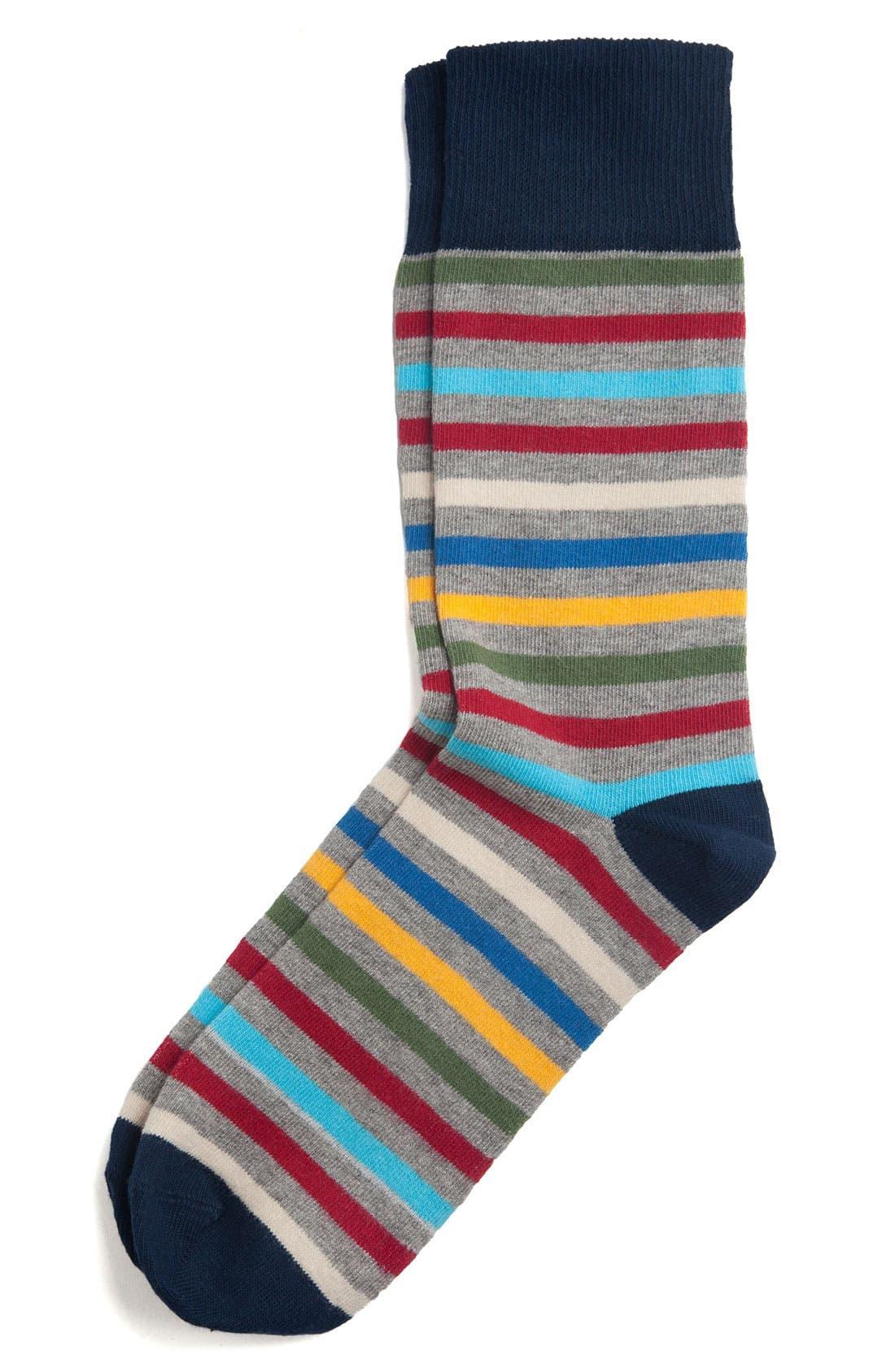 Alternate Image 1 Selected - Pact Multicolored Stripe Socks