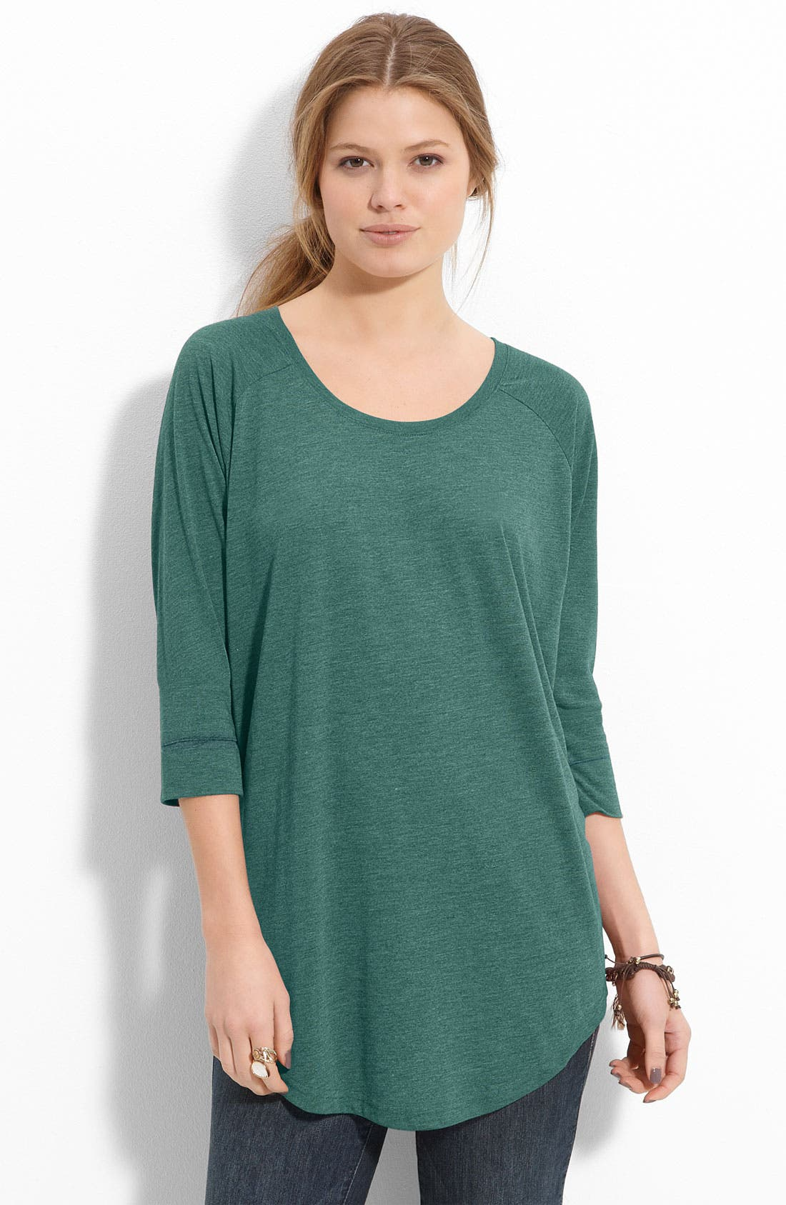 Alternate Image 1 Selected - Rubbish® Boxy Dolman Sleeve Tunic (Juniors)
