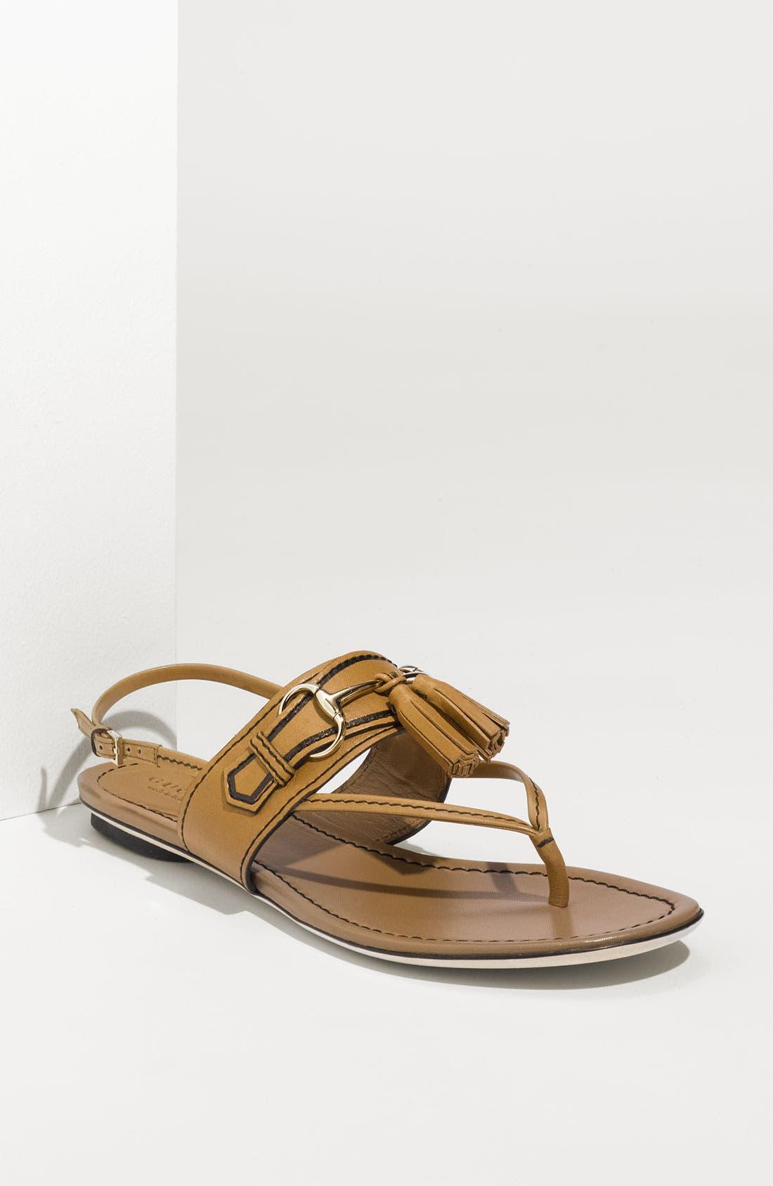 Main Image - Gucci 'Emily' Tassel Sandal