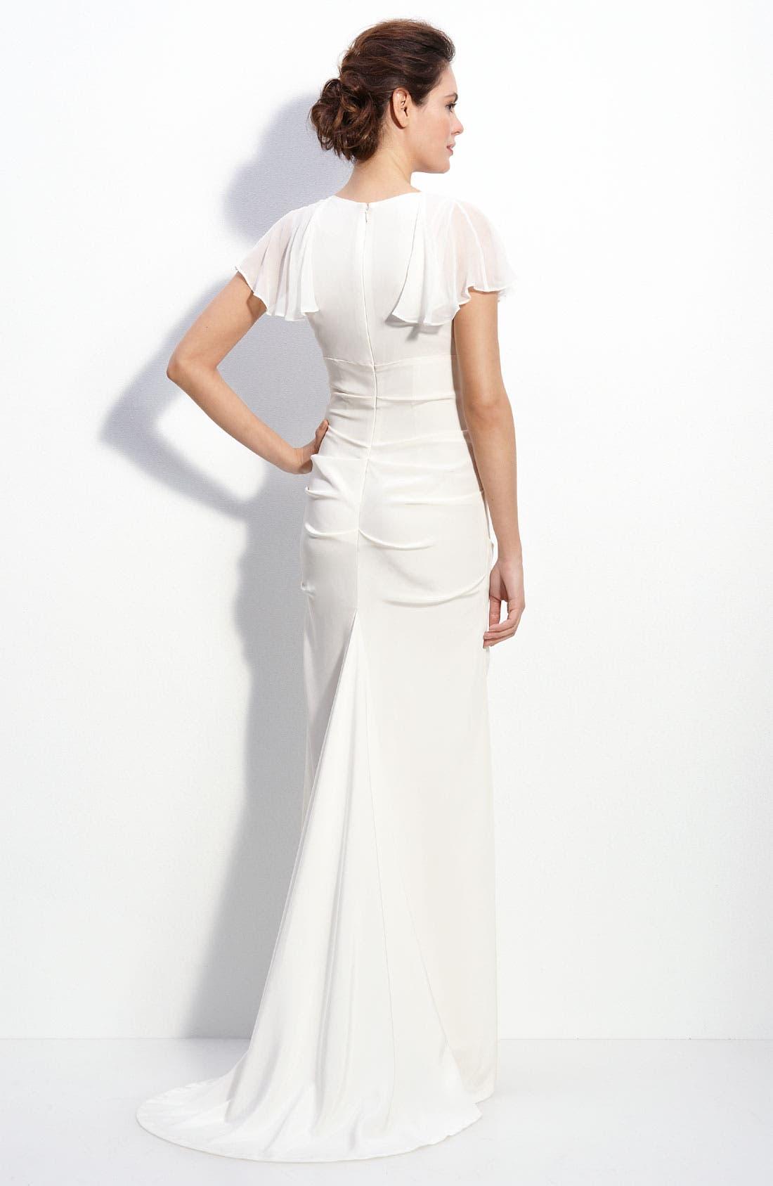 Alternate Image 2  - Nicole Miller Silk Crêpe de Chine Gown