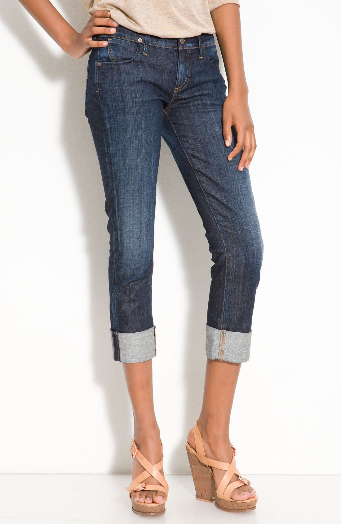 Alternate Image 1 Selected - Citizens of Humanity 'Dani' Crop Straight Leg Jeans (Scorpio Wash)