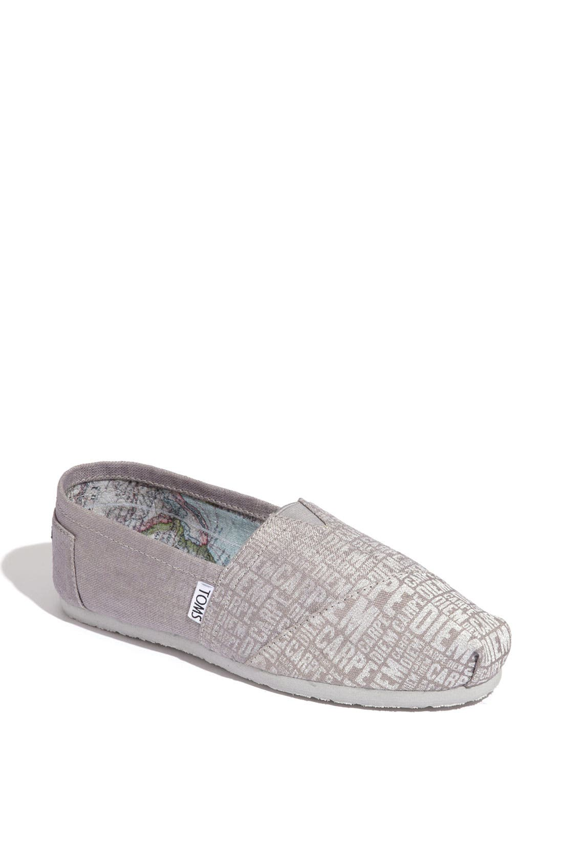 Main Image - TOMS 'Classic - Carpe Diem' Canvas Slip-On (Women)