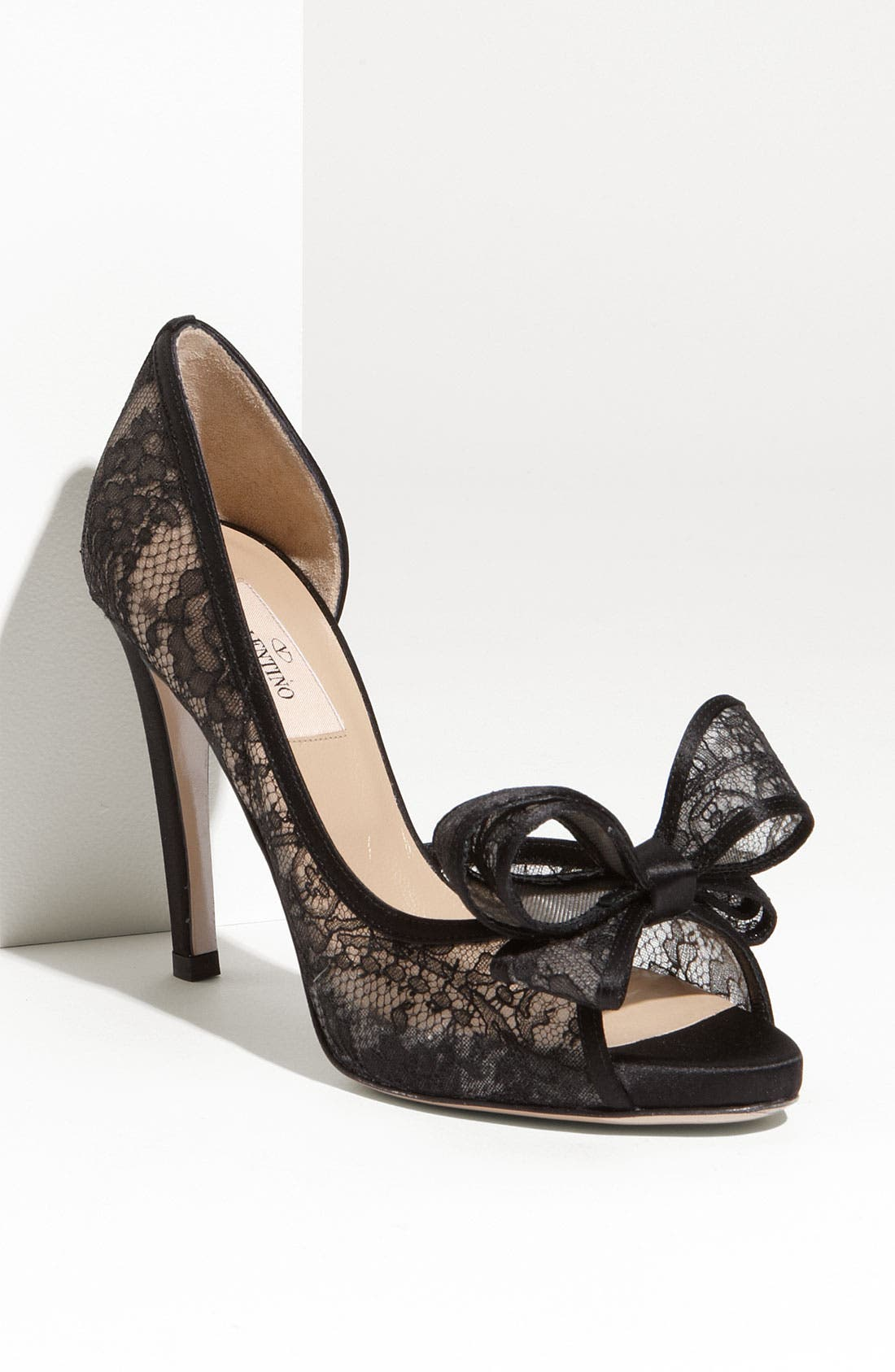 Alternate Image 1 Selected - Valentino Lace Couture Bow d'Orsay Pump