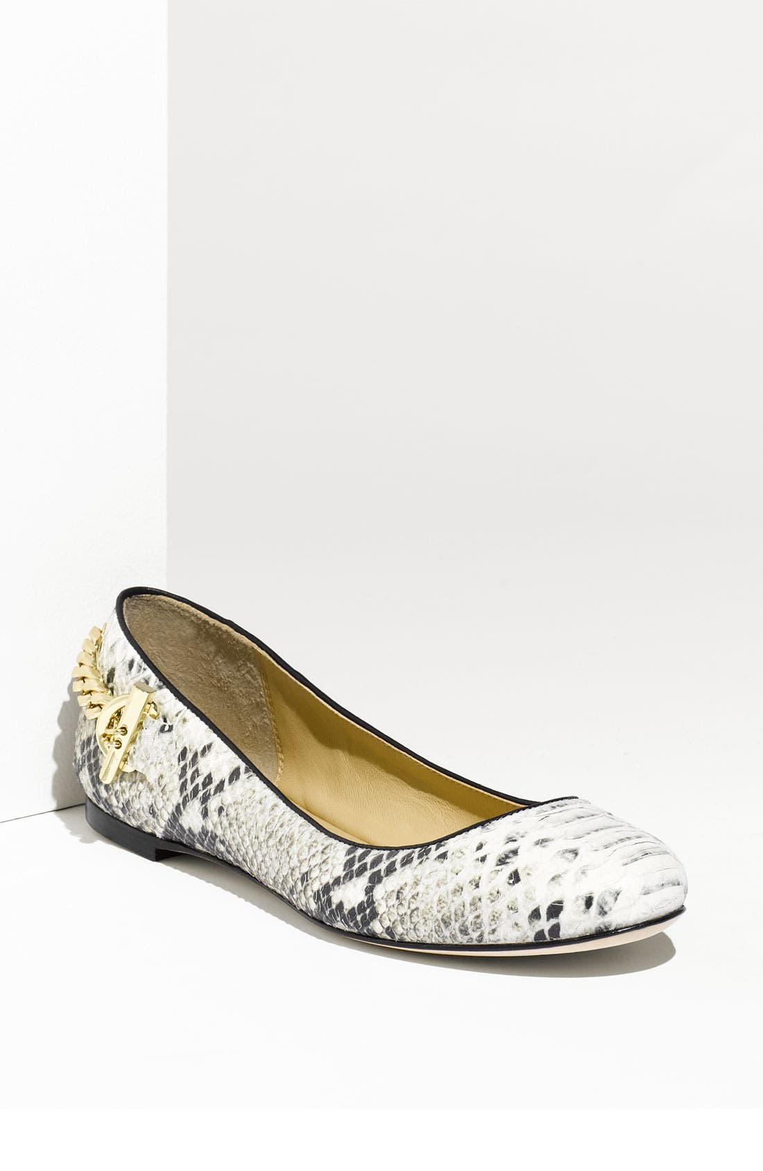 Alternate Image 1 Selected - Rachel Zoe 'Laura' Genuine Snakeskin Flat