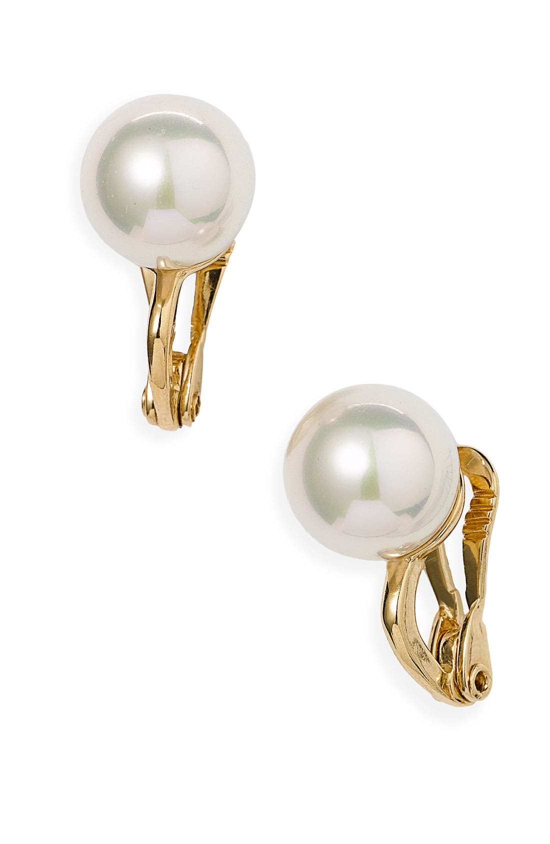 Alternate Image 1 Selected - Majorica 12mm Round Pearl Clip Earrings