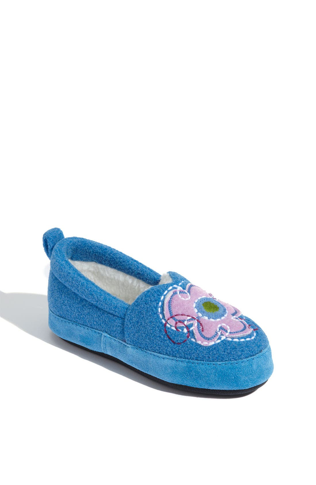 Alternate Image 1 Selected - Acorn 'Flower Power Moc' Slipper (Toddler, Little Kid & Big Kid)