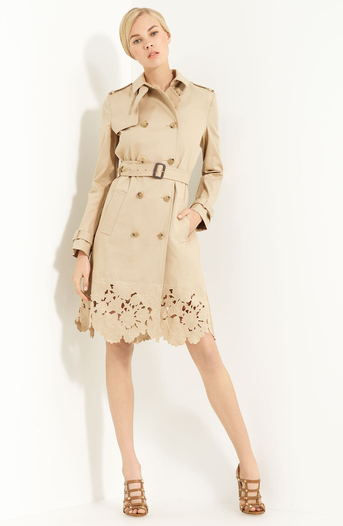 Alternate Image 1 Selected - Valentino Belted Macintosh Trench