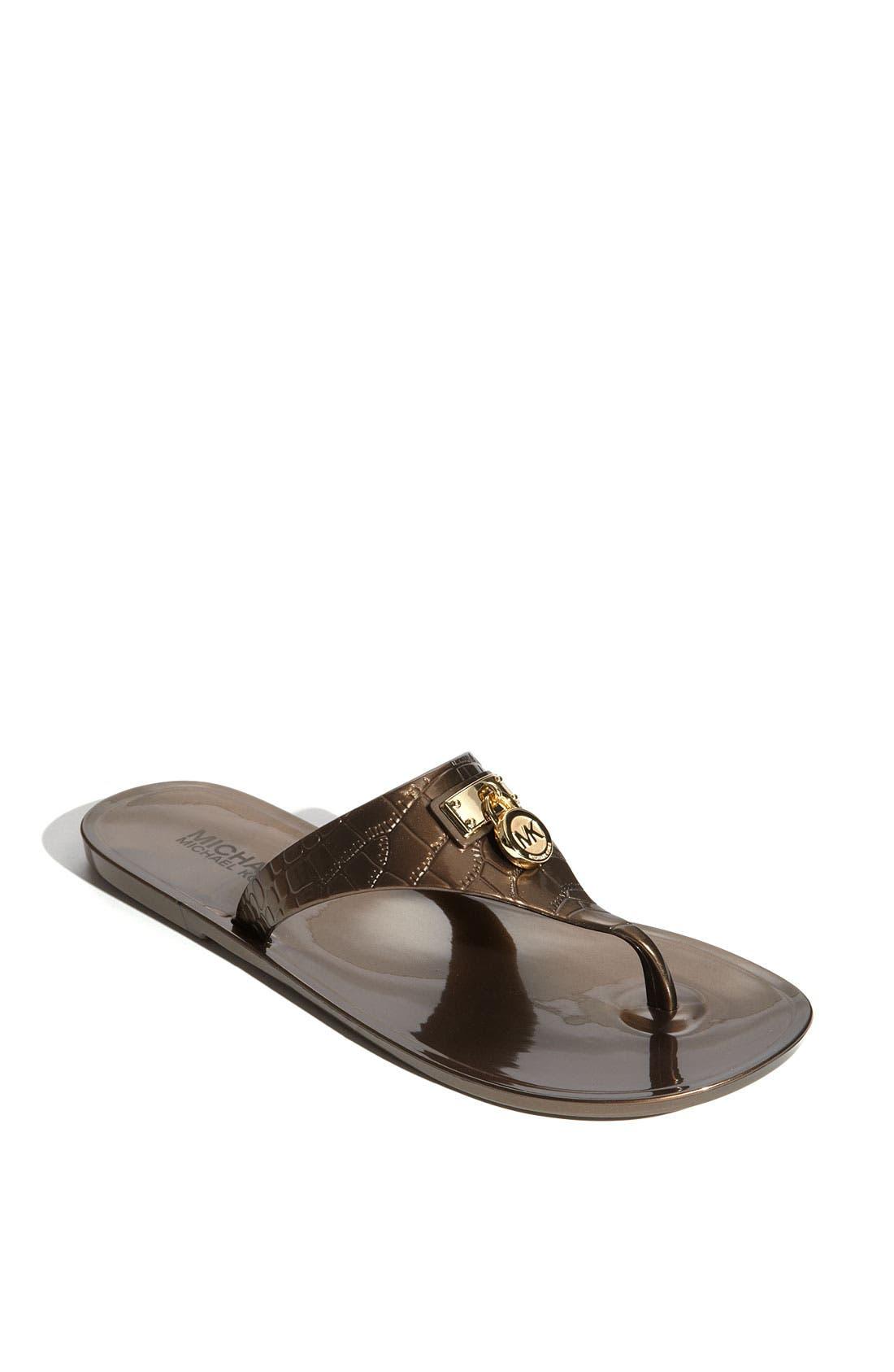 Alternate Image 1 Selected - MICHAEL Michael Kors 'Hamilton Croco Jelly' Sandal