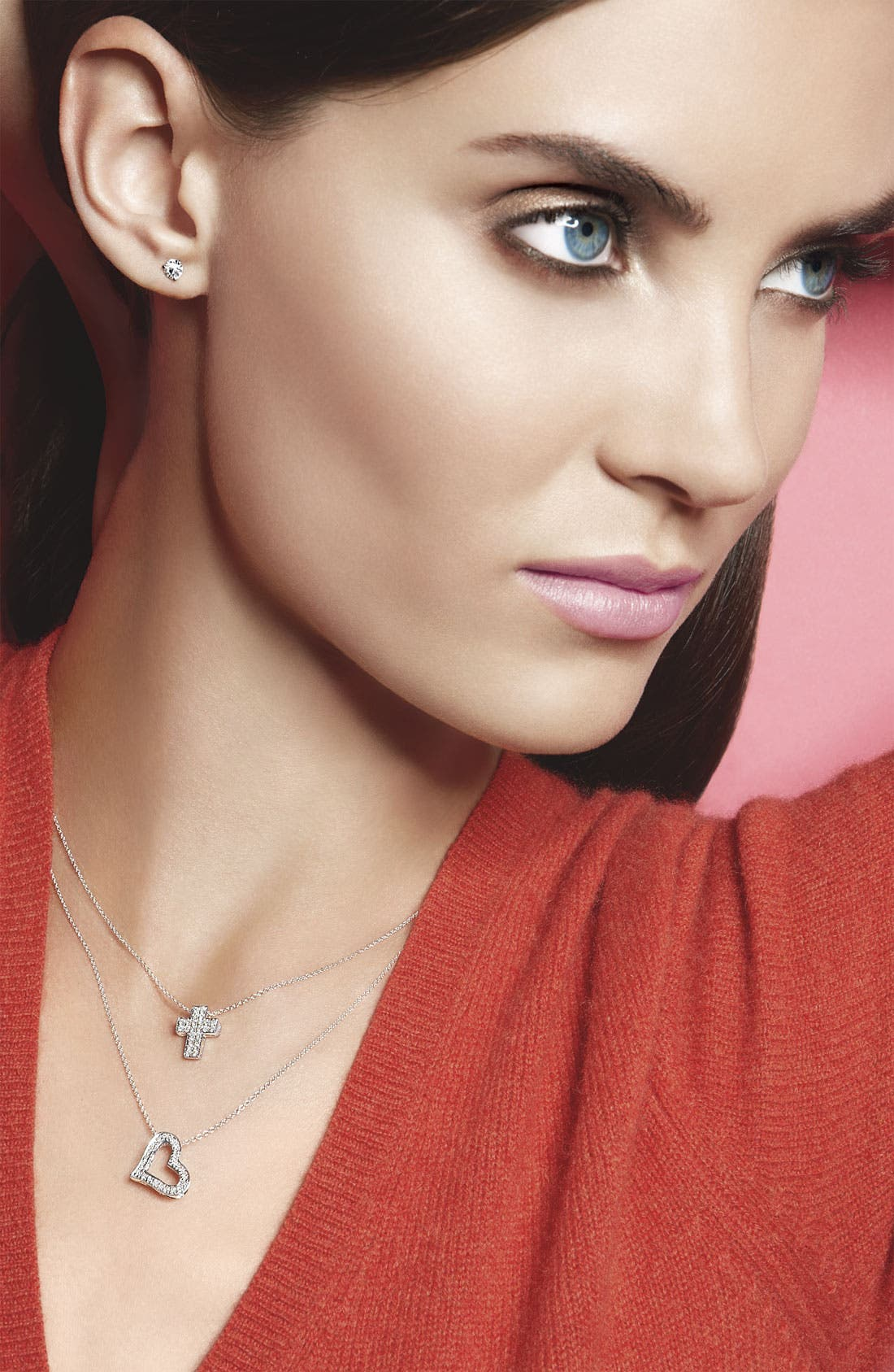 Alternate Image 2  - Bony Levy Diamond Cross Pendant Necklace (Nordstrom Exclusive)