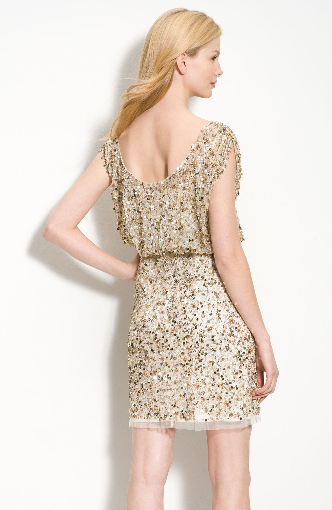 Alternate Image 2  - Aidan Mattox Beaded Blouson Dress